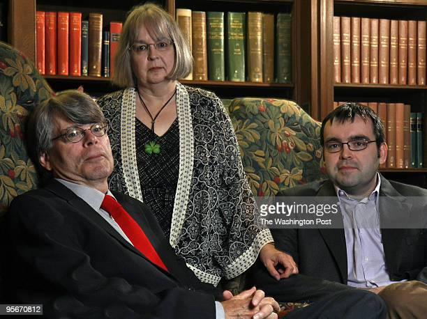 Noted author Stephen King comes to town with his wife Tabitha and son Owen both writers themselves to help Owen promote his book Pictured lr Stephen...
