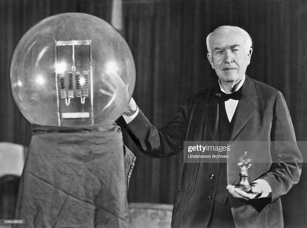 Thomas Edison And His Big Bulb : News Photo