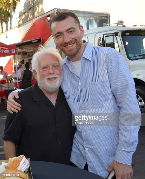 Noted television producer Ken Ehrlich and recording artist Sam Smith attend Capitol Music Group's Premiere Of New Music And Projects For Industry And...