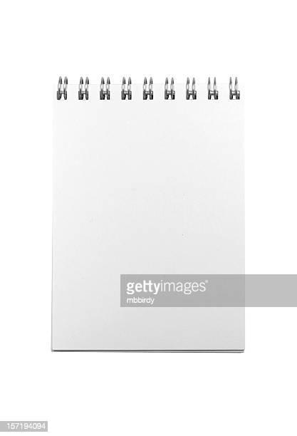 Notepad (clipping path), isoliert auf weißem Hintergrund