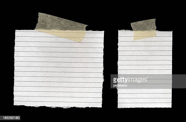notepad page - adhesive tape stock pictures, royalty-free photos & images