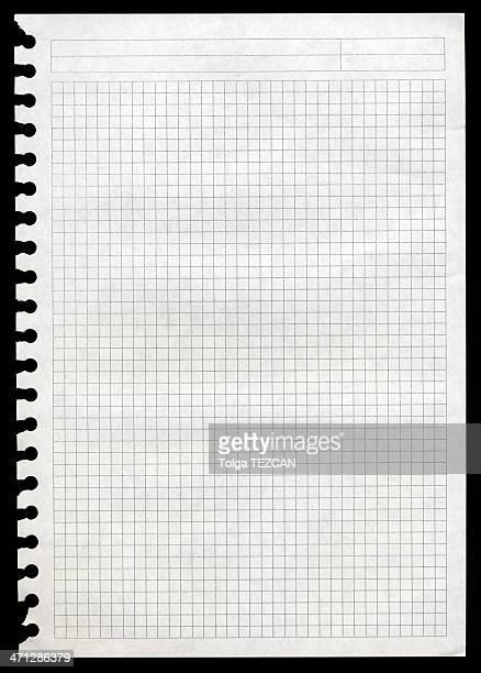 notepad (メモ)ページ - 線入り用紙 ストックフォトと画像