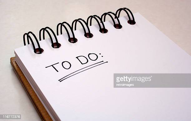 notepad - to do list - get things done - to do list stock pictures, royalty-free photos & images