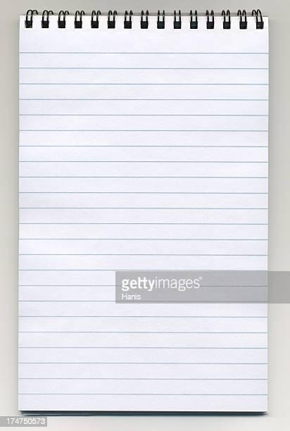 Notepad with clipping path