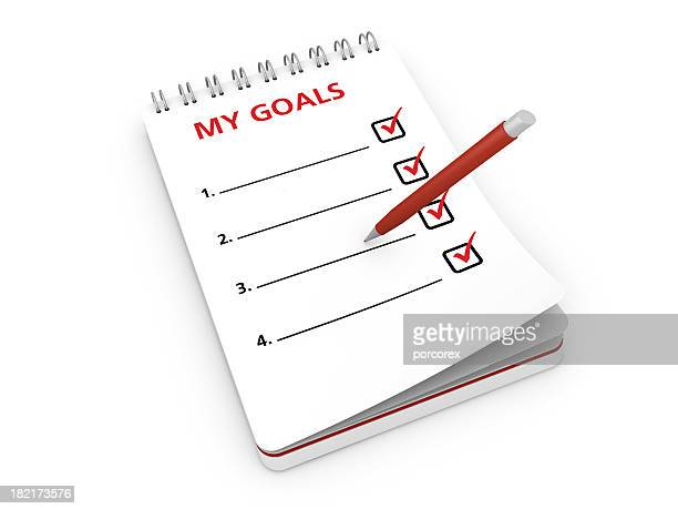 Notepad with Goal List