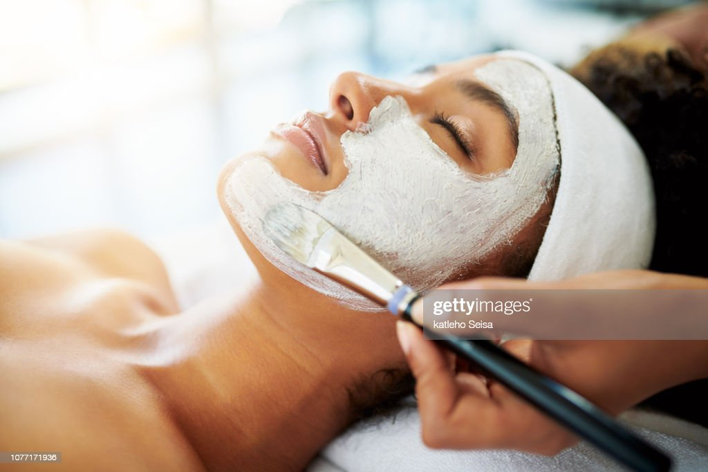 Nothing boosts the skin like a facial : Stock Photo