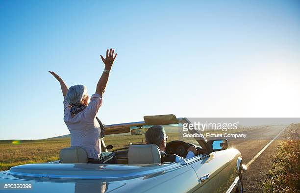 nothing but the open road - convertible stock pictures, royalty-free photos & images