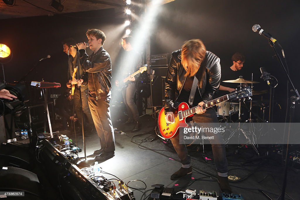 Nothing But Thieves perform at the Versus Versace Fall Winter Collection unveiling at The Old Brewery on May 14, 2015 in London, England.