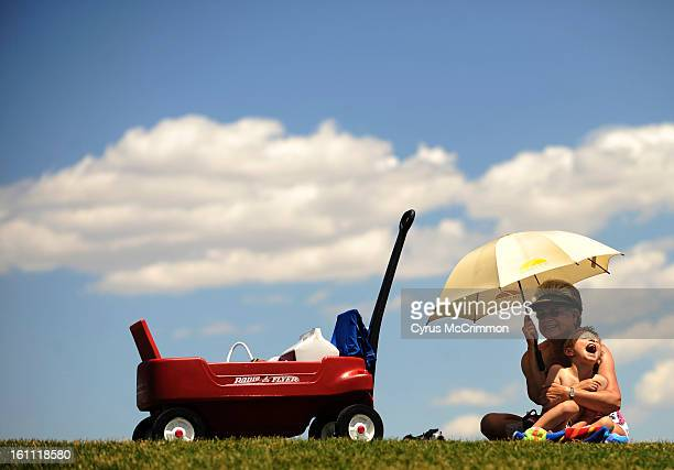 Nothing is really any better than sitting in the lap of your grandmother having a picnic on a sunny summer day 5yearold Tyler Vold of Denver laughs...