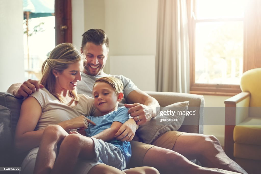 Nothing makes for a better weekend than some family time : Stock Photo