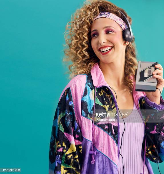 nothing makes me feel as good as 80s music - 1980 stock pictures, royalty-free photos & images
