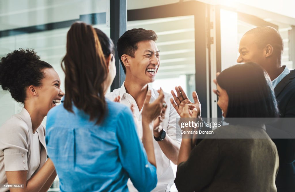 Nothing motivates productivity like team morale : Stock Photo
