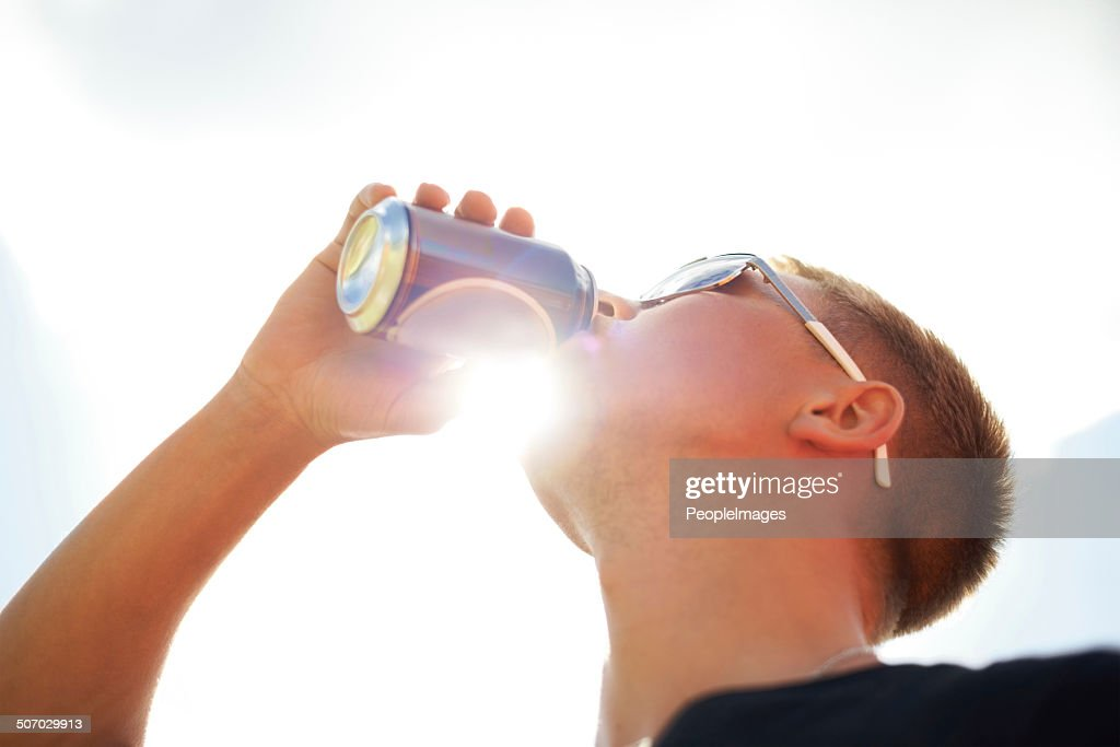 Nothing refreshes better than a cold beer : Stock Photo
