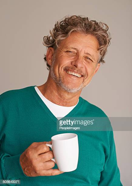 Nothing refreshes him more than a cup of coffee