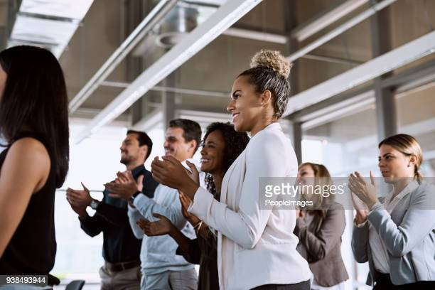 Nothing says powerful presentation like a standing ovation