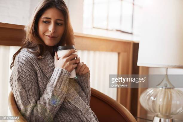 nothing says relax like a sip of good coffee - smirking stock pictures, royalty-free photos & images