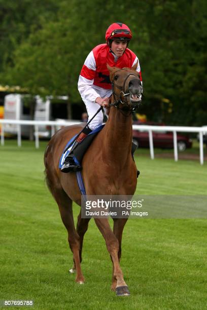 Nothing To Hide ridden by jockey James Doyle going to post prior to The 'Come Shopping At Castlepoint' Bournemouth Maiden Auction Stakes