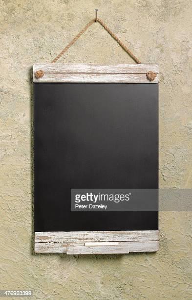 Notice board on outside wall