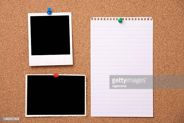 Notice Board with Blank Photgraphs and Page