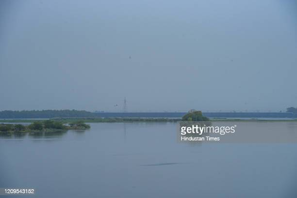 Noticeable reduction in the pollution in the waters of the river Yamuna, on day fourteen of the 21 day lockdown to check the spread of coronavirus,...