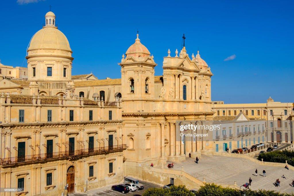 Noto, Kathedrale von San Nicolò (Sizilien, Italien) : Stock-Foto