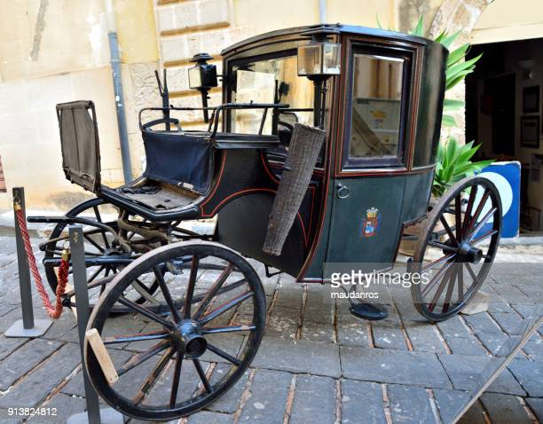 noto sicily italy - animal powered vehicle stock photos and pictures