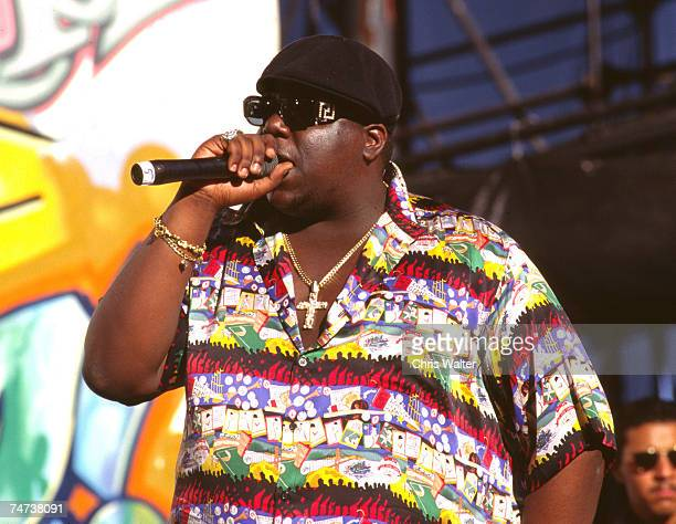 Notorious BIG 1995 during Music File Photos 1990's in Los Angeles California