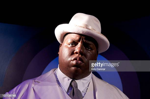 Notorious BIG wax figure is unveiled at Madame Tussauds on June 16 2010 in Washington DC