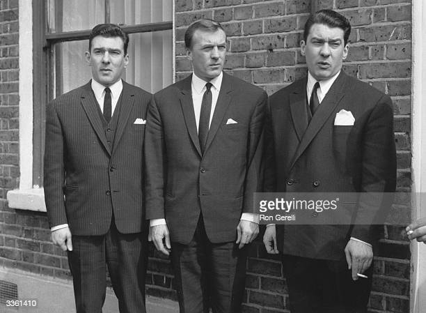 Notorious London gangsters the Kray brothers Reggie Charlie and Ronnie