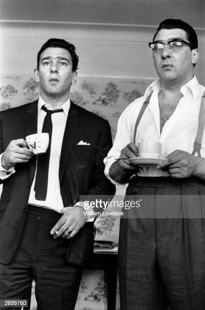 Notorious London gangsters the Kray Twins Reggie and Ronnie