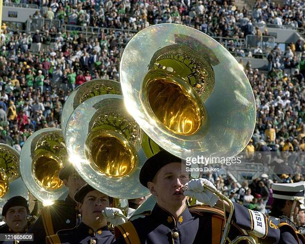 Notre Dame Band in pregame before the game in Purdue's 41-16 win over Notre Dame in Notre Dame Stadium, South Bend, IN 10-2-04.