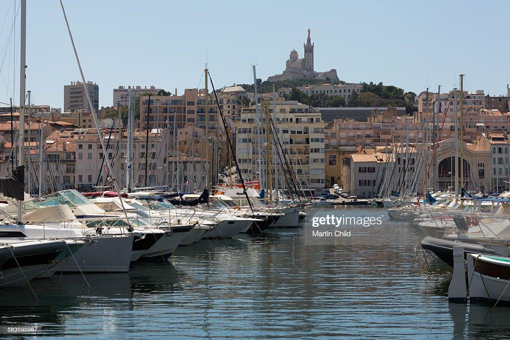 Notre Dame basilica in Marseilles : Stock Photo