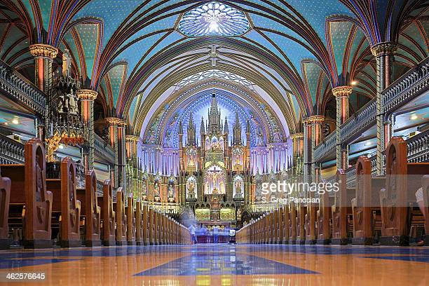 notre dame basilica - montreal - montréal stock pictures, royalty-free photos & images