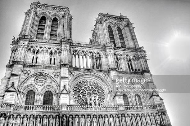 Notre Dame B&W - HDR - Paris, France