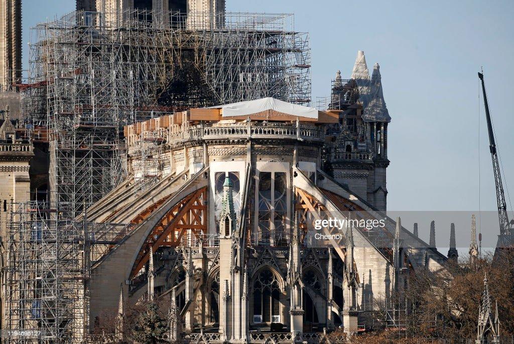 Renovation Of Notre Dame De Paris : News Photo