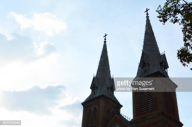 Notre Dame Cathedral of Saigon, Twin Bell Towers, Silhouette