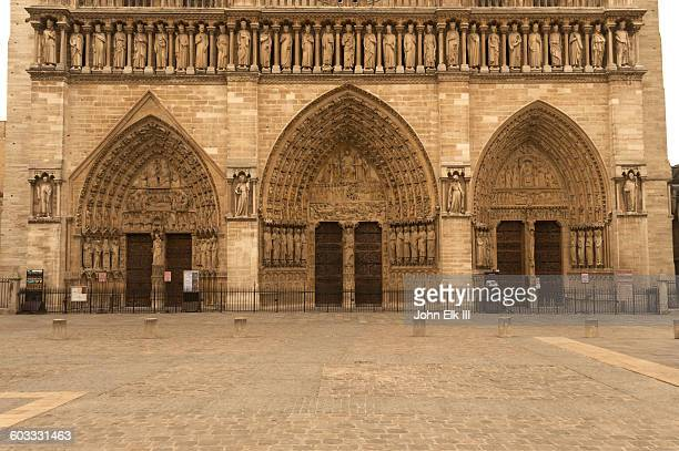 Notre Dame Cathedral, West facade, main entry