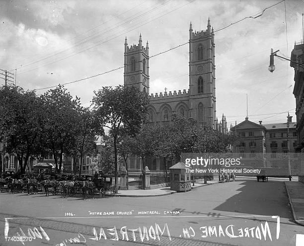 Notre Dame Church, Montreal, Quebec, Canada, 1890s.