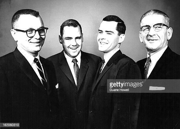 APR 4 1962 Notre Dame Club Elects Officers Newly elected officers of the Denver Notre Dame Club are from left John H Scheibelhut 6147 Owens St Arvada...