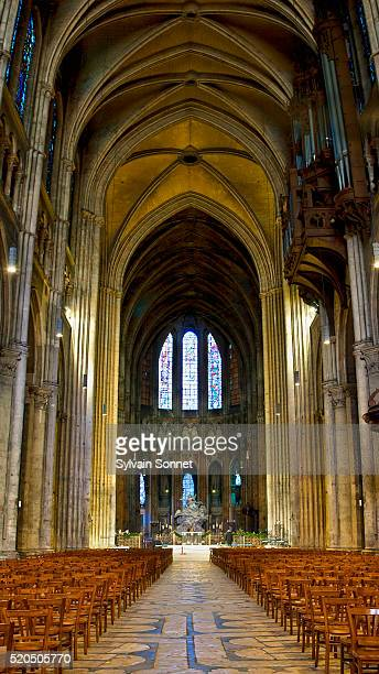 notre dame de chartres cathedral - nave stock pictures, royalty-free photos & images