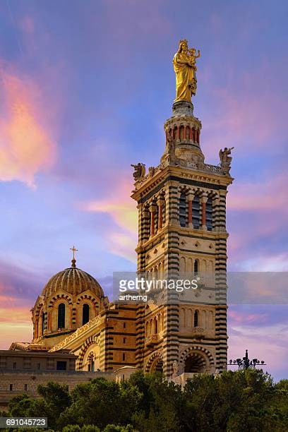 notre dame de la garde, marseille, france - bouches du rhone stock pictures, royalty-free photos & images