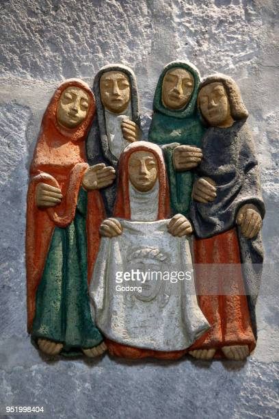 Notre Dame d'Orcival basilica Orcival France Station of the cross Sta Veronica
