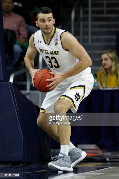 Notre Dame Fighting Irish forward John Mooney during the game between the Virginia Tech Hokies and Notre Dame Fighting Irish on January 27 at Purcell...