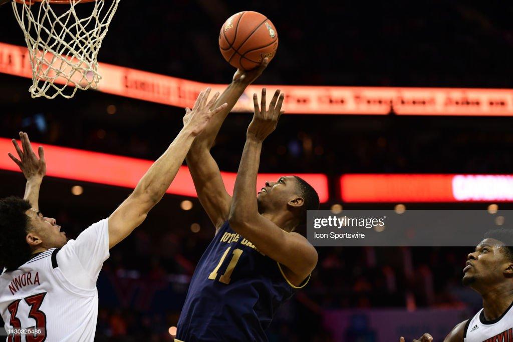 COLLEGE BASKETBALL: MAR 13 ACC Tournament - Louisivlle v Notre Dame : News Photo