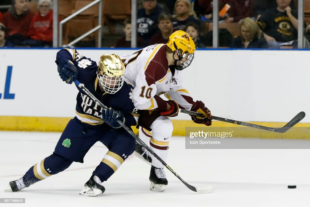 NCAA HOCKEY: MAR 25 Division I Championship - Northeast Regional - Minnesota v Notre Dame : News Photo