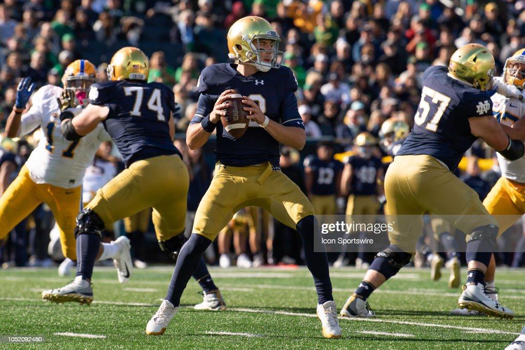 COLLEGE FOOTBALL: OCT 13 Pitt at Notre Dame : Foto jornalística