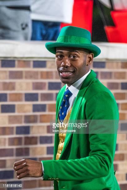 Notre Dame Fighting Irish's mascot Leprechaun during the Notre Dame Fighting Irish and the Duke Blue Devils on November 09 2019 at Wallace Wade...
