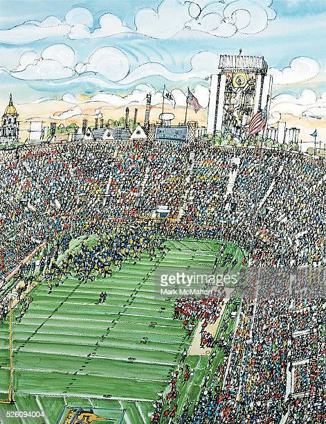 Notre Dame Football by Mark McMahon
