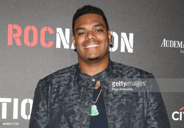 Notre Dame Football Player Ronnie Stanley attends the Roc Nation preGRAMMY Brunch on February 11 2017 in Los Angeles California