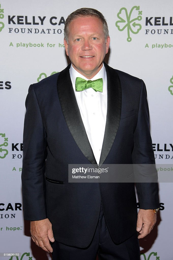 Notre Dame Head Football Coach Brian Kelly attends the Kelly Cares Foundation 2016 Irish Eyes Gala at The Pierre Hotel on March 14, 2016 in New York City.
